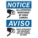 ALL ACTIVITIES MONITORED BY VIDEO CAMERA